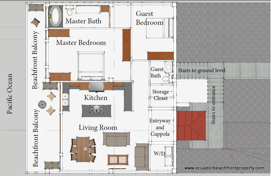 Floor plans oceanfront homes for Oceanfront floor plan