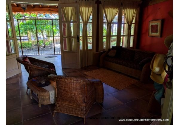 Sitting area in the main residence