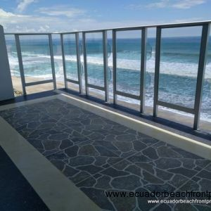 Custom tile work on the balcony