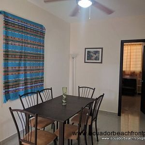 Dining area looking towards the guest bedroom