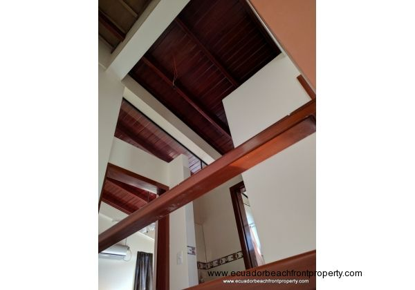 High Wooden Ceilings over the Master Bedroom and Upstairs Bath