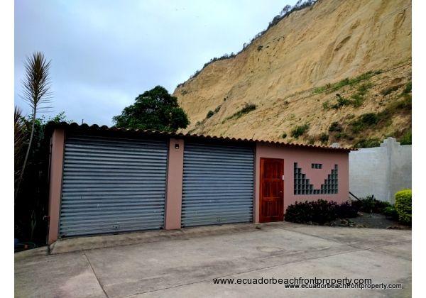 Two door garage plus storage/laundry room