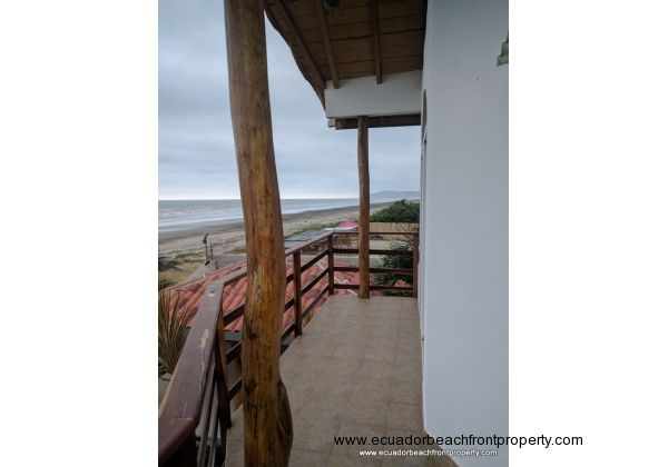 View of the balcony in front of the master bedroom
