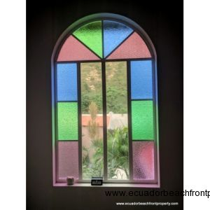 Stained glass in the stairwell