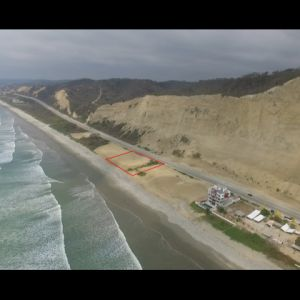Canoa, Ecuador Beachfront Property Aerial View