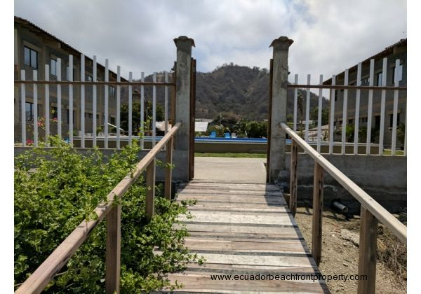 Ramp leading down to the beach