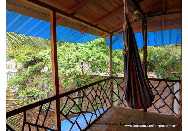 Covered balcony with hammock