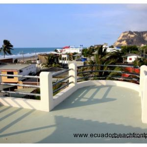Rooftop terrace view of Punto Charapoto and the beach