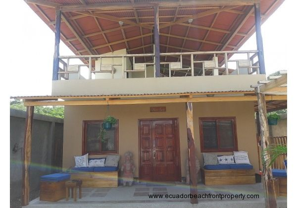 Beachfront house for sale in San Jacinto Ecuador