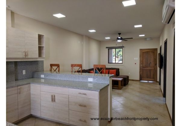 Open and bright with plenty of recessed LED lighting