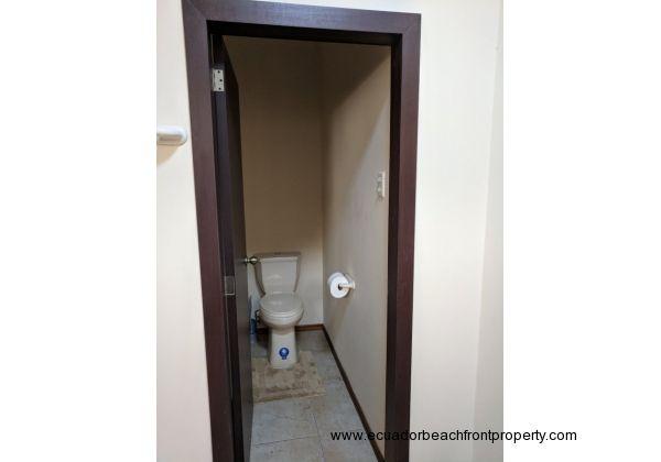 Water closet in master bath