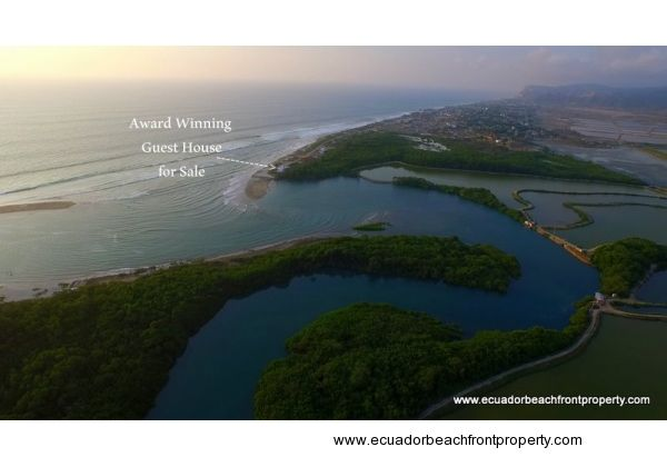 Beachfront B&B for sale in Ecuador