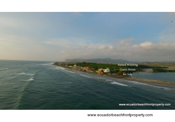 Successful guest house for sale on the beach in Ecuador