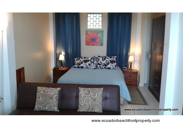 The two guest suites have very comfortable queen beds, microwave, mini-fridge, and TV with Direct TV