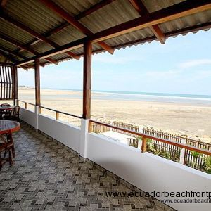 Spacious covered oceanfront patio