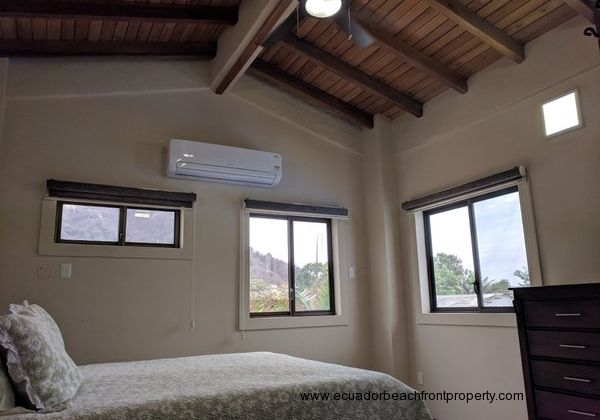 Master bedroom has AC and overhead fans