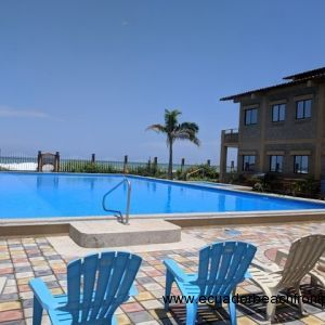 66ft oceanfront swimming pool with direct beach access
