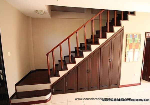Under stairs storage with washing machine