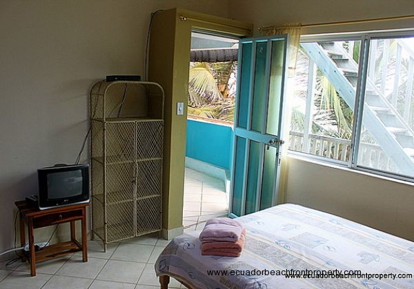 Room 3 has AC, Direct TV, a skylight, double bed and walk-in shower with hot water