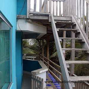 Stairs to rooftop terrace
