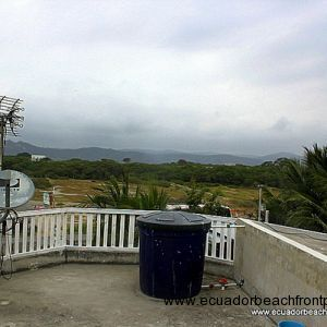 Views of the countryside from the rooftop terrace