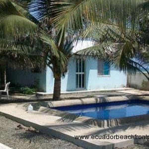 Oceanfront and poolside guest suite with 1 bedroom, 1 bath and a kitchenette.