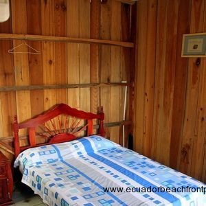 Cabana room 1 has a double bed, AC, mini-fridge and full bath (cold water plumbing only but hot water can be added)