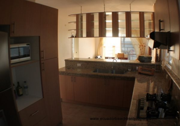 View from the kitchen into the open floorplan
