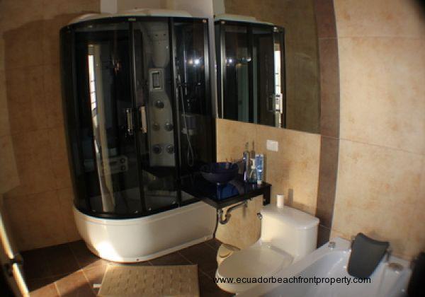 Master bath shower cabin