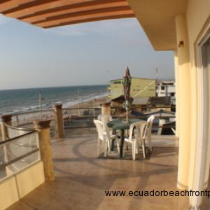 Spacious beachfront balcony