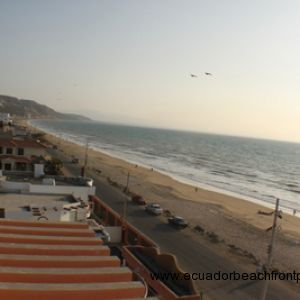 View from the balcony to the South along the beach