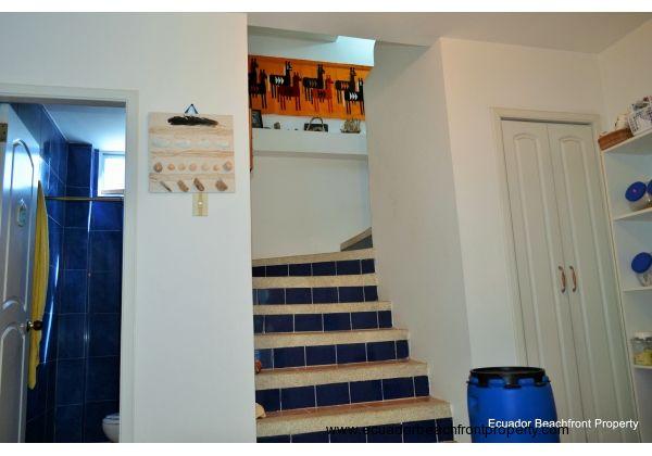 jack & Jill bath, staircase and pantry.