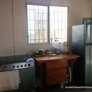 Kitchen comes equipped with appliances