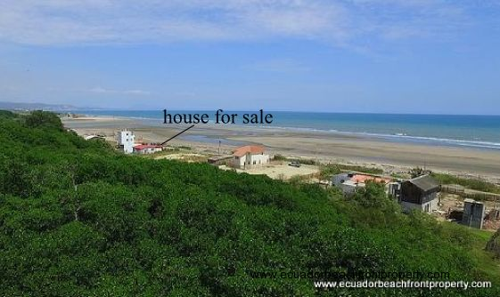 Beachfront home for sale in Ecuador
