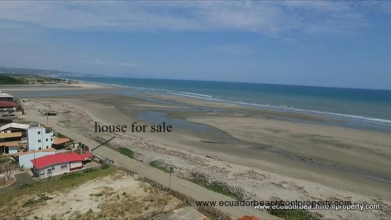 Beachfront house for sale in Ecuador