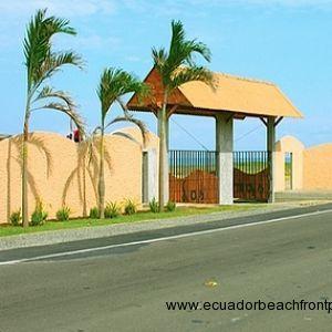 Entrance to Las Palmas community from Ruta del Sol highway