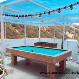 Private pool table and foosball table