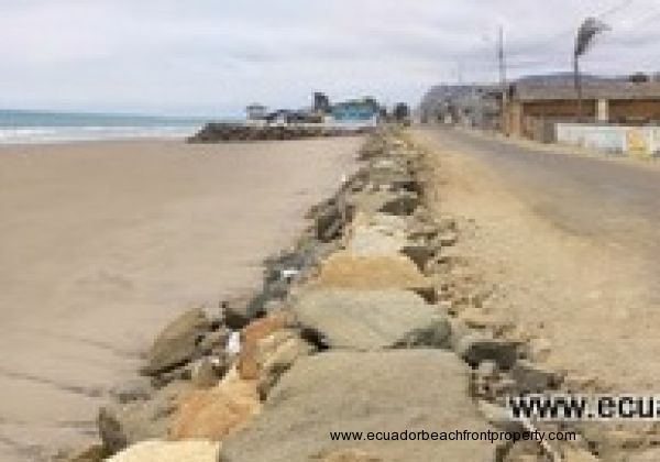 The lot sits along the beachfront road in San Jacinto