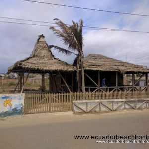 Small thatched cabana
