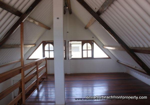 Loft with hardwood floors
