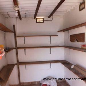 Inside of storage shed