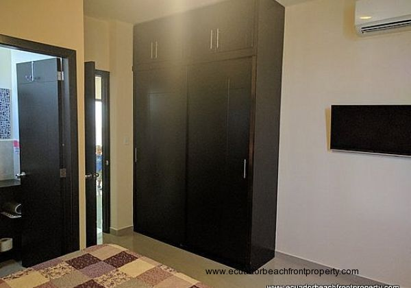 Master bedroom is equipped with AC, overhead fan, built-in closet and en-suite bath