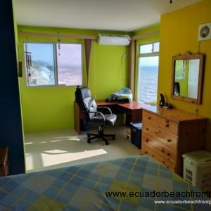 Spacious master bedroom equipped with AC and overhead fans