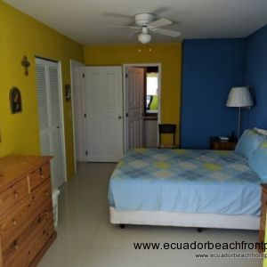Spacious master bedroom with two separate closets and an ensuite bath