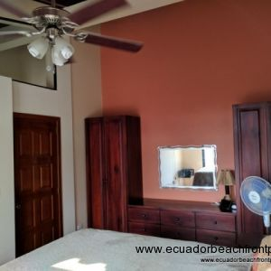 High Ceilings and Fan in the Master Bedroom