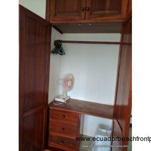 Built in closet in the second bedroom