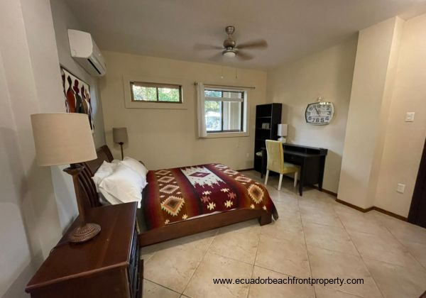 Unit has AC in the living area and bedrooms