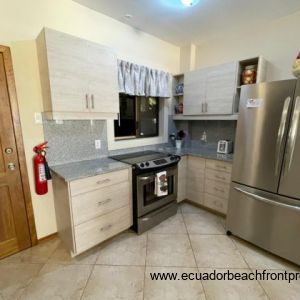 Spacious kitchen comes well-equipped new stainless appliances