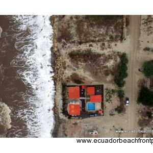 Map view of the beachfront Lot in Crucita, Ecuador