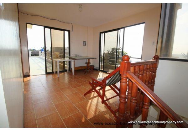 Third floor landing and living room